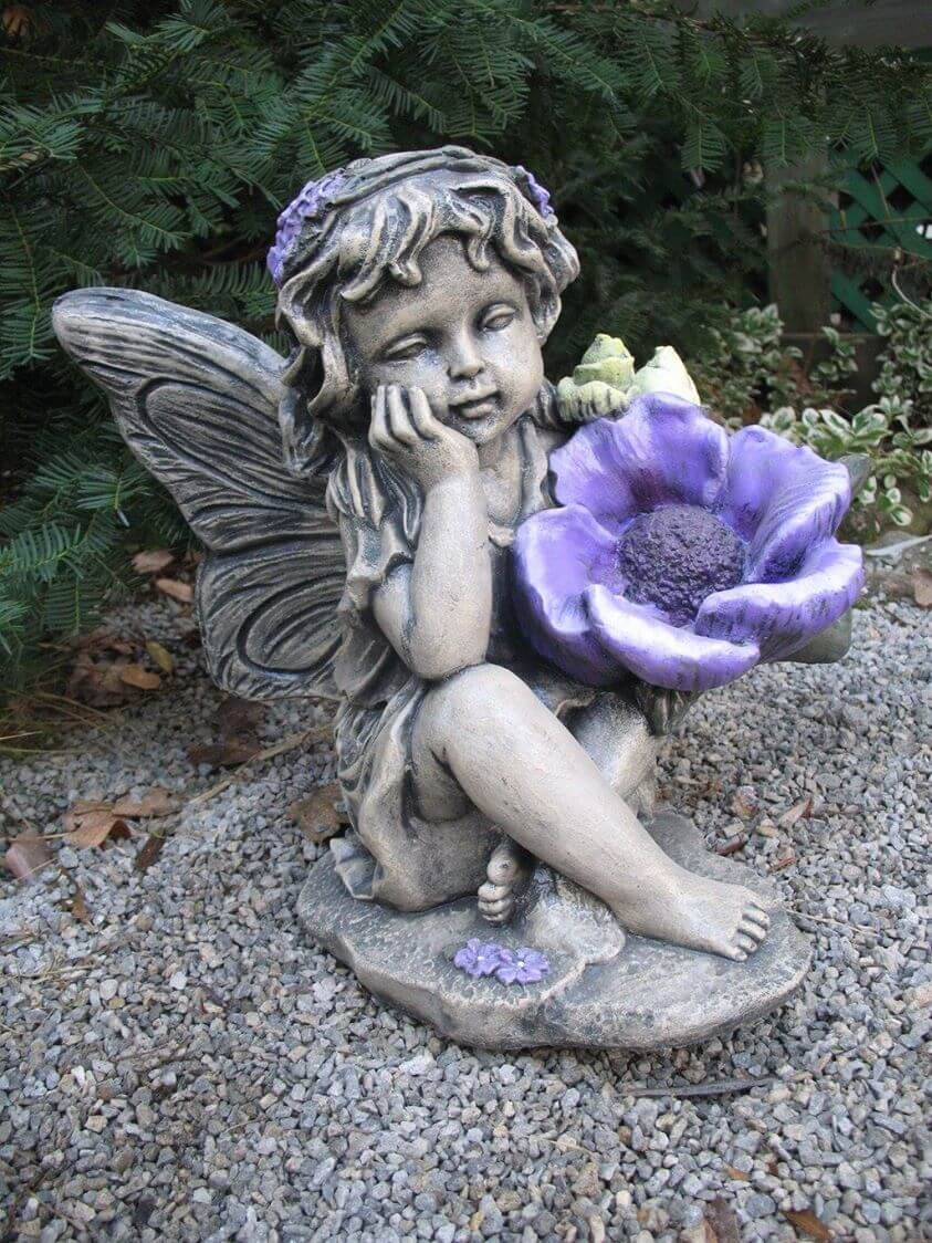 Fairy w/flower #7506.3